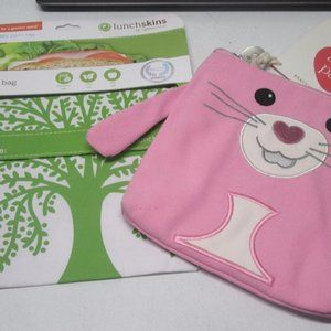 Two Reusable Sandwich / Snack / Lunch Bags